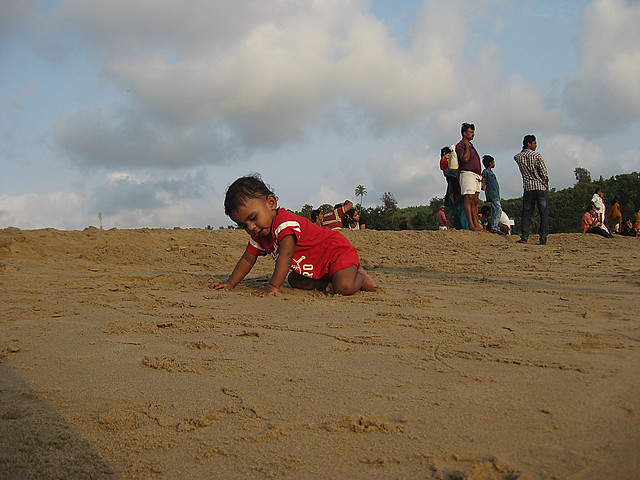 Romir playing in Gokarna sea beach