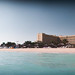 Panoramic view of beach at Intercontinental Doha Hotel