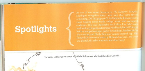 Spotlight Artist description Stampers Sampler 2012