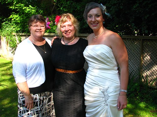 the bride, me & my mom