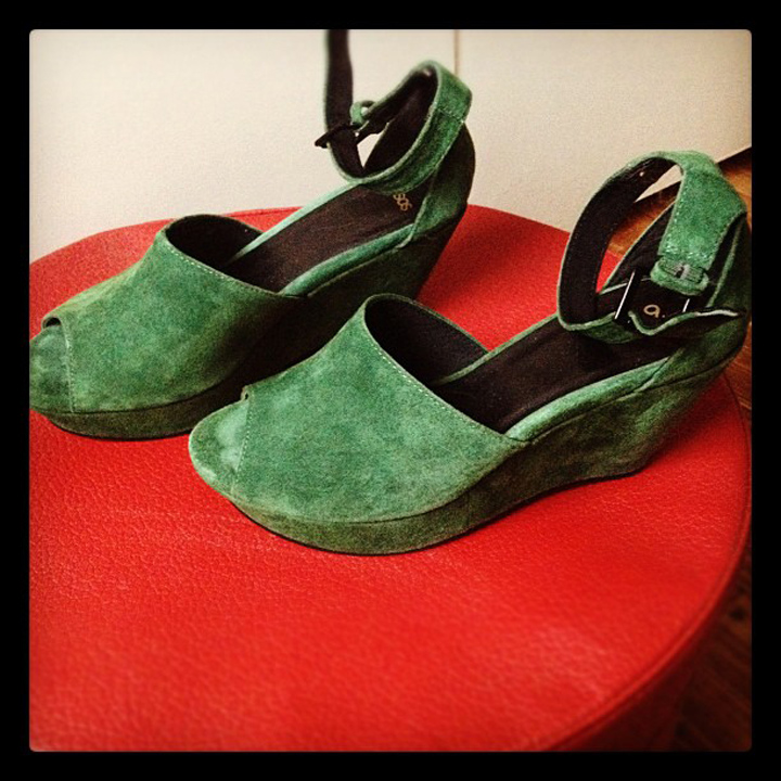 green suede asos platform peeptoe wedges2