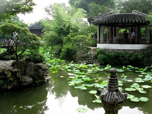 Jardín del administrador humilde. Jardines clásicos de Suzhou. China.