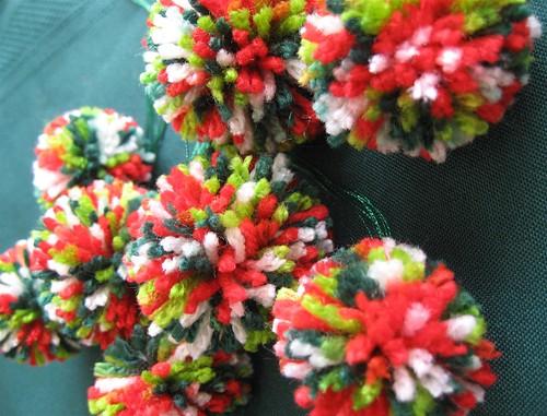 Christmas pom poms