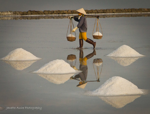 Salt worker, Vietnam