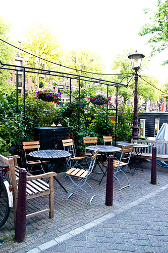 Outdoor Patio at De Bolhoed in Amsterdam