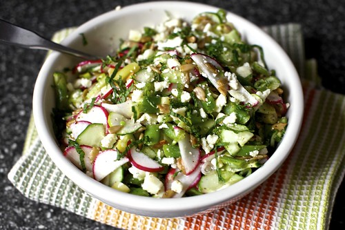 Chopped Salad with Feta, Lime, and Mint