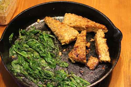 smoky tempeh and greens