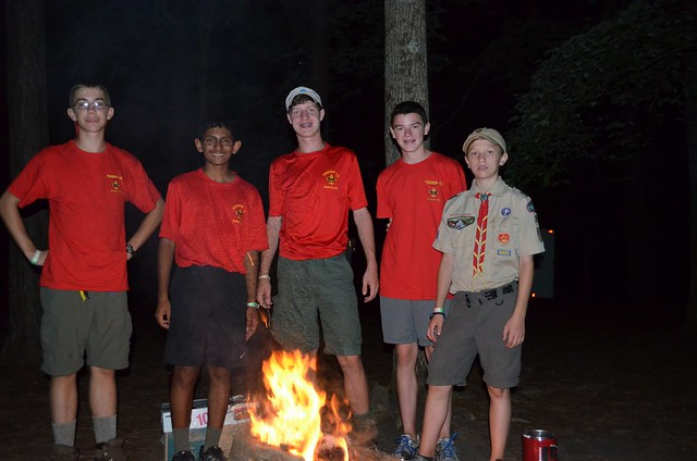 By the camp fire @ Camp Sequoyah