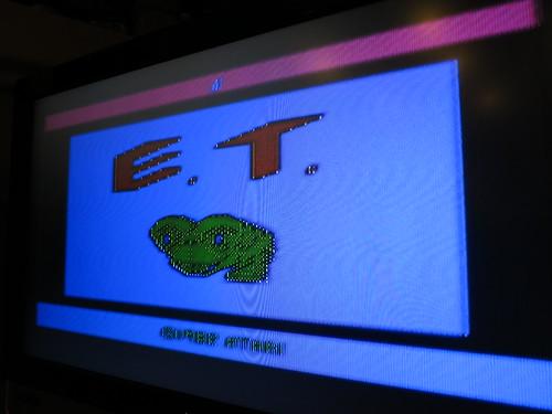 Atari 2600. E.T. Composite Video.