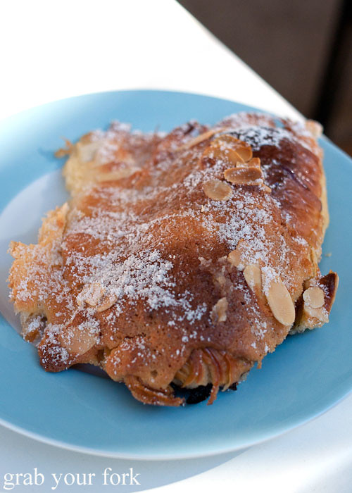 Almond croissant at Strawberry Fields Dulwich Hill