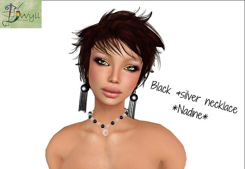 Black & silver necklace *Nadine* (not free) by Cherokeeh Asteria