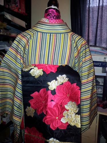 Obi options for my stripe hikizuri....