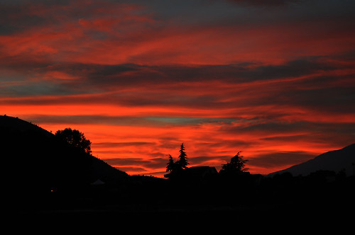 italia tramonto nuvole cielo rosso fuoco sera velino avezzano marsica cimarani
