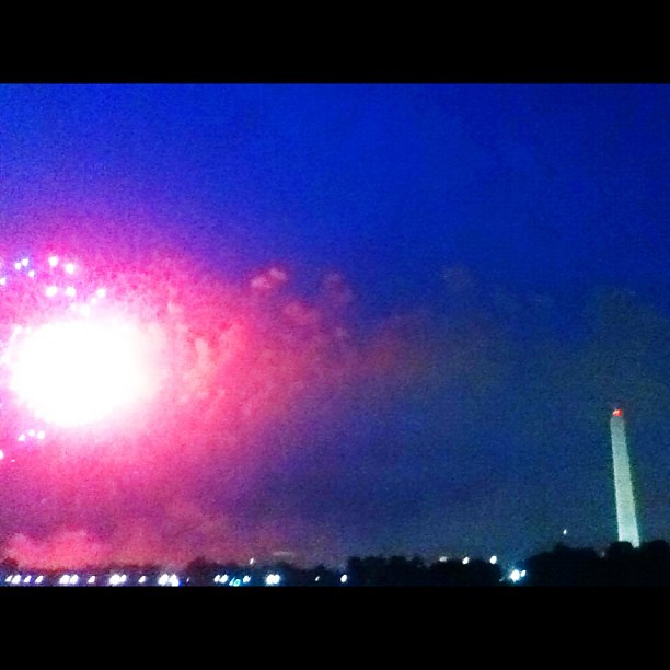 Fireworks from the steps of the #jefferson. Life is so good.