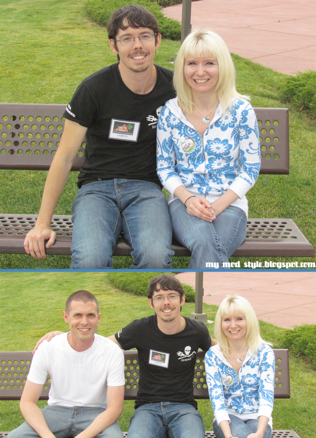 VegFest Collage Us with Peter