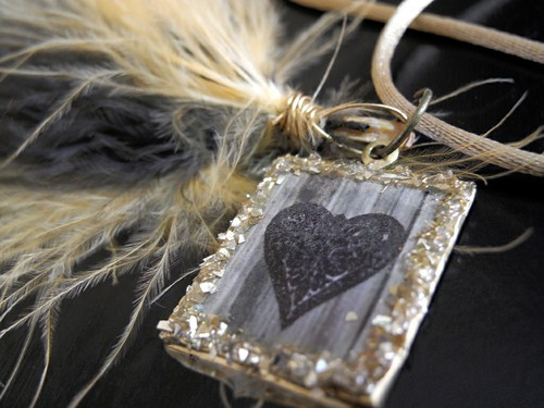 Feather Heart Pendant