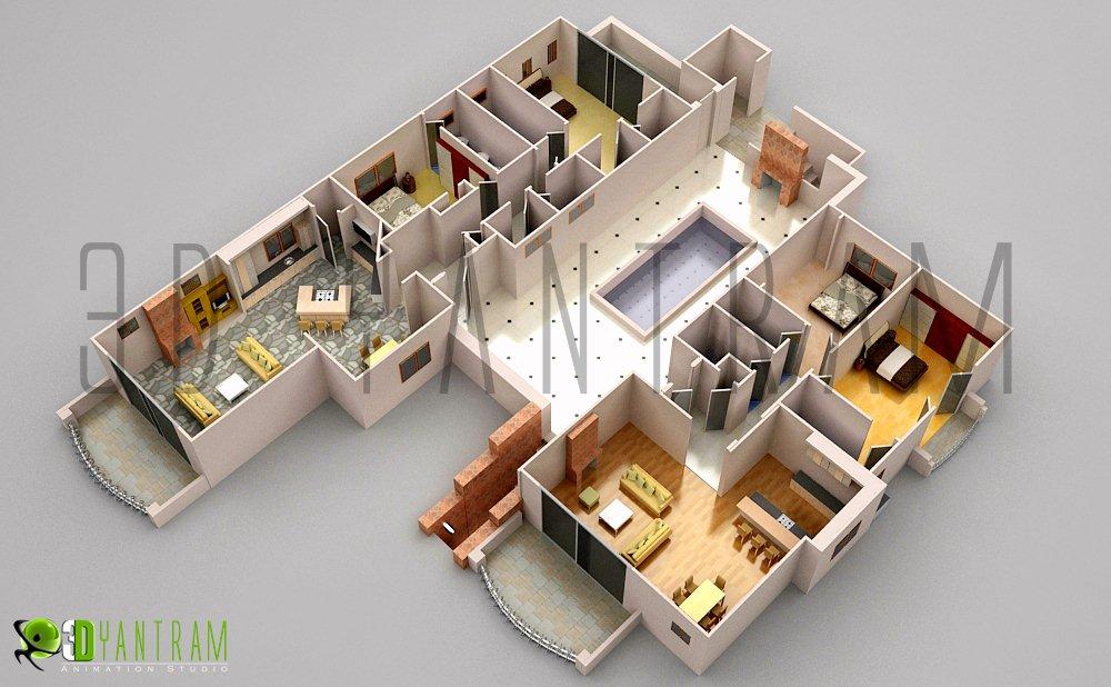 3d Office Floor Plan Design Flickr Photo Sharing