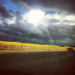 Mon 1er arc-en-ciel sur Instagram ... #rainbow
