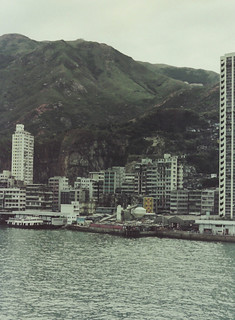 Mundane view of HK Victoria harbour shoreline in 1974