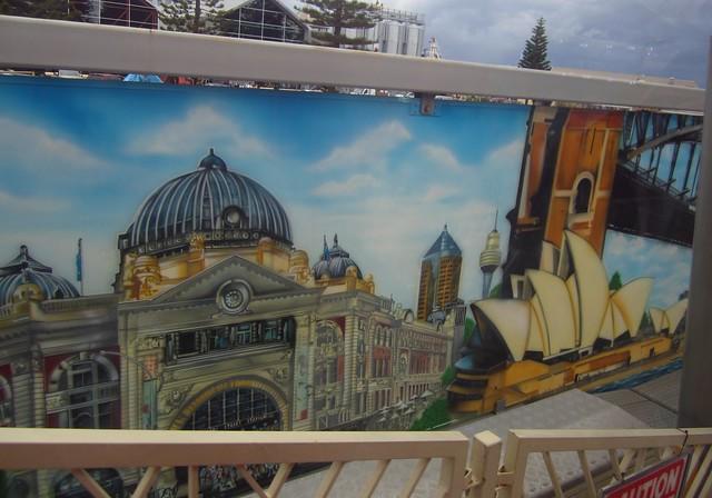 A familiar sight from the ferris wheel, Fremantle