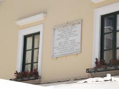 Photo of Gennaro Felicè Arucci stone plaque