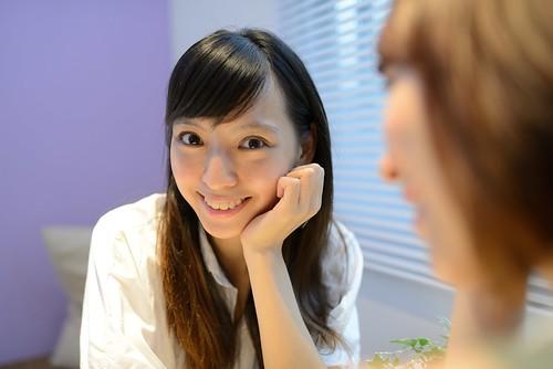 [フリー画像素材] 人物, 女性 - アジア, 頬杖, 台湾人 ID:201207220800