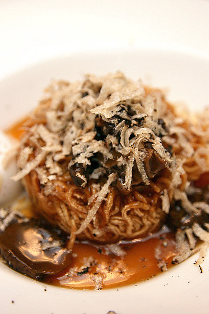 Crispy Noodles, Fresh Morel Mushrooms, Shaved Summer Truffle