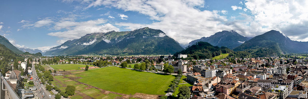 Interlaken from the Metropole Hotel