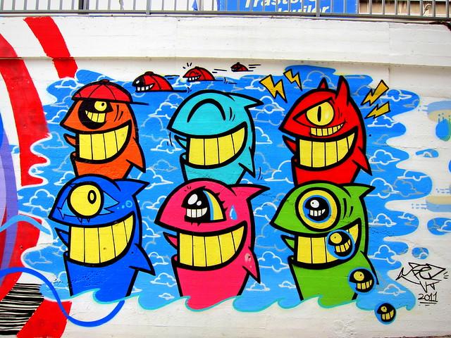 graffiti | pez | barcelona 2012