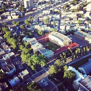 École de danse de Québec vu du ciel en ballon