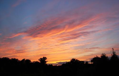 sunset cloud river poland warsaw vistula białołęka
