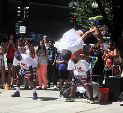 boston faneuil hall performer flipping