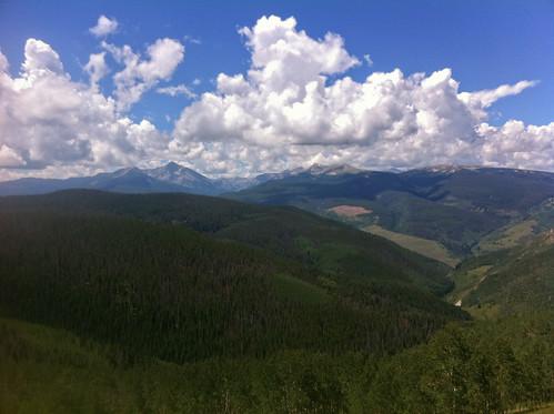 mountains colorado view vail