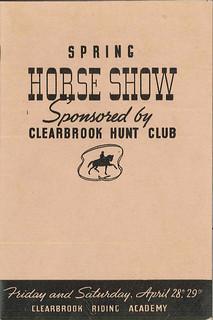 Horse show program, 1939