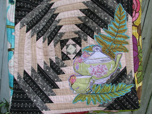 Bari J Fabric for tea pot collage