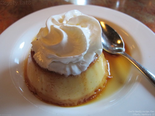 Chef's family recipe flan