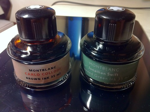 Montblanc Jonathan Swift Seaweed Green Ink Reviews The Fountain Pen Network