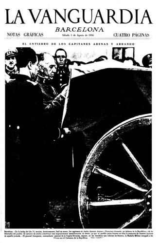 La Vanguardia 1 de agosto de 1936, foto Agustí Centelles i Ossó. by Octavi Centelles