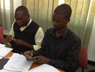 Enumerators with Galaxy Tablets