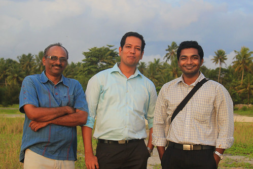 At Alapuzha beach during a journey to Cochin