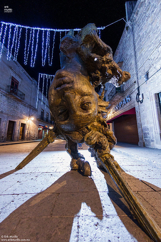 Escultura en calles de Morelia