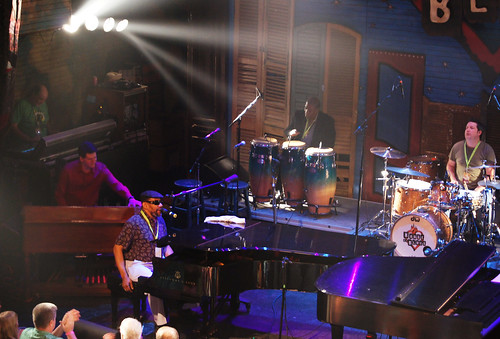 Henry Butler and his band on the HOB's main stage on Piano Night. photo Bill Sasser