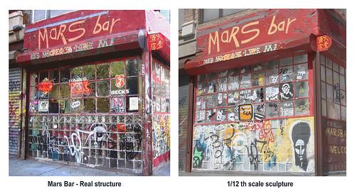 Mars Bar vs 1/12 scale model comparison