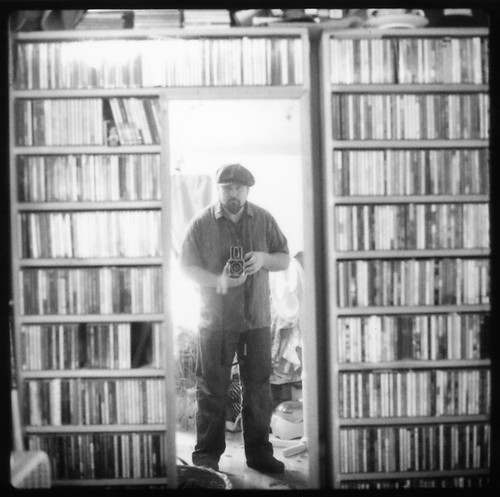 Self Portrait with Music Collection (Polaroid)