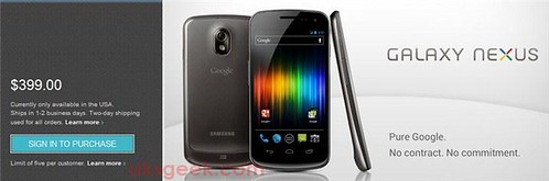 Unlocked galaxy nexus