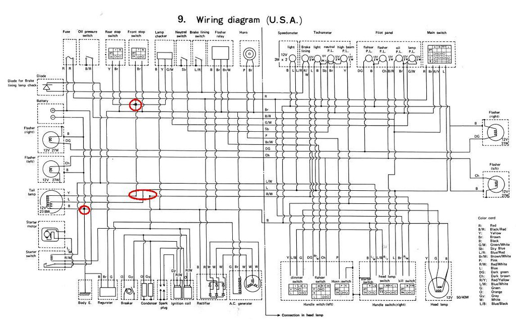 errors in yamaha tx500 wiring diagram rh xs500forum com yamaha g2 wiring diagram yamaha 703 wiring diagram