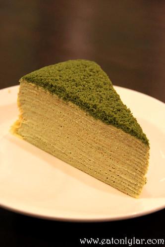 Matcha Latte Mille Crêpe, Indulge Café