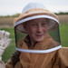 Vivian in her Bee-Keeper Suit