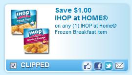 IHOP At Home Frozen Breakfast Item  Coupon