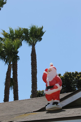 Santa Surfs the Roof All Year Round